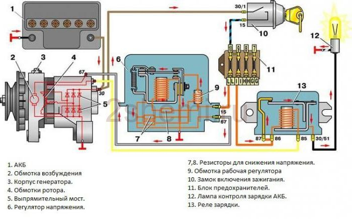 Схема генератора ваз 2106 регулятор фото 31