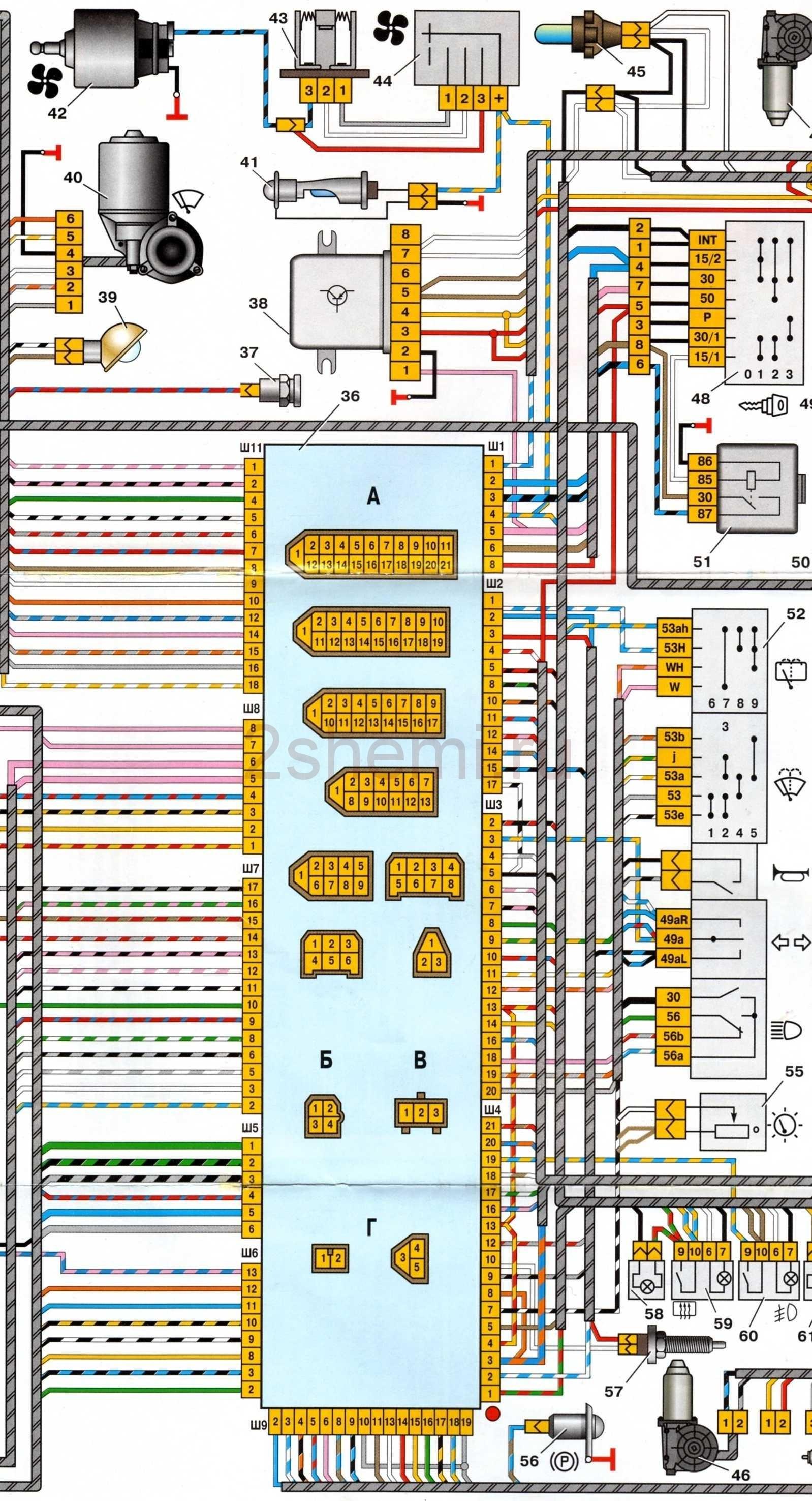 Схема подключения четырех ламп и один выключатель