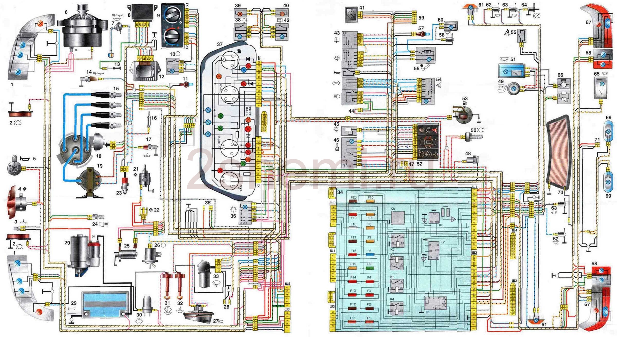 Схема ВАЗ 2110