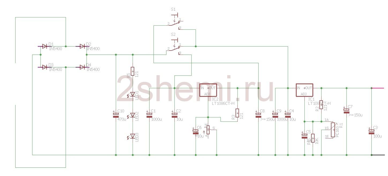 Блок питания 24В 1А на микросхеме LT1086