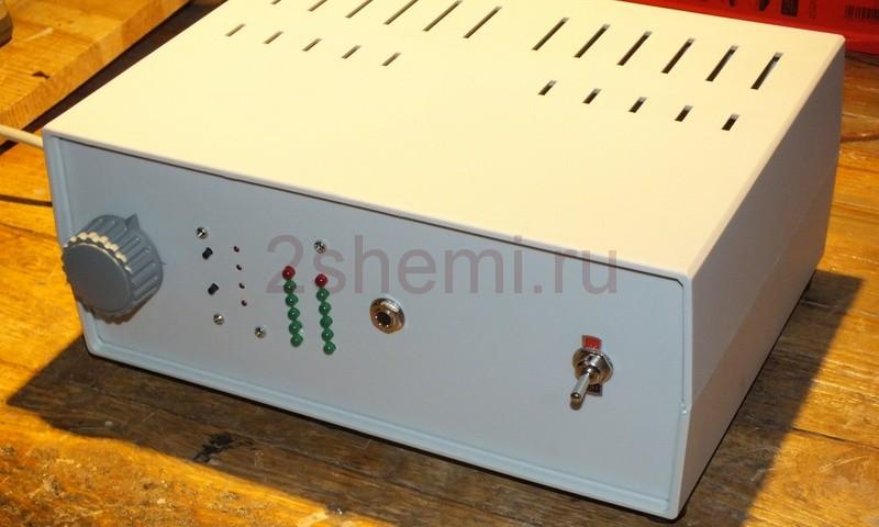 Усилитель Холтон на MOSFET с индикатором уровня
