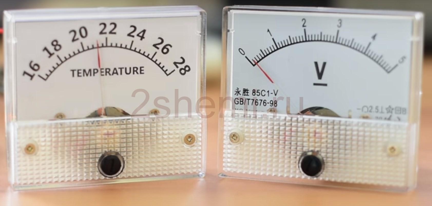 Термометр со стрелочным индикатором на микроконтроллере Ардуино