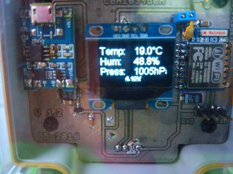 WI-FI метеостанция на модуле ESP