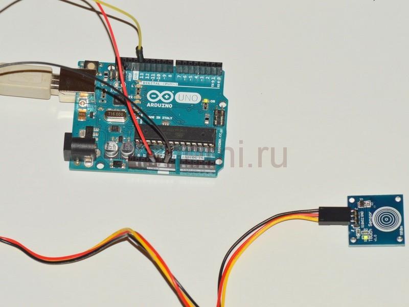 Сенсорный выключатель для Arduino - готовый модуль кнопки
