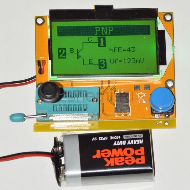 Корпус для цифрового тестера радиоэлементов