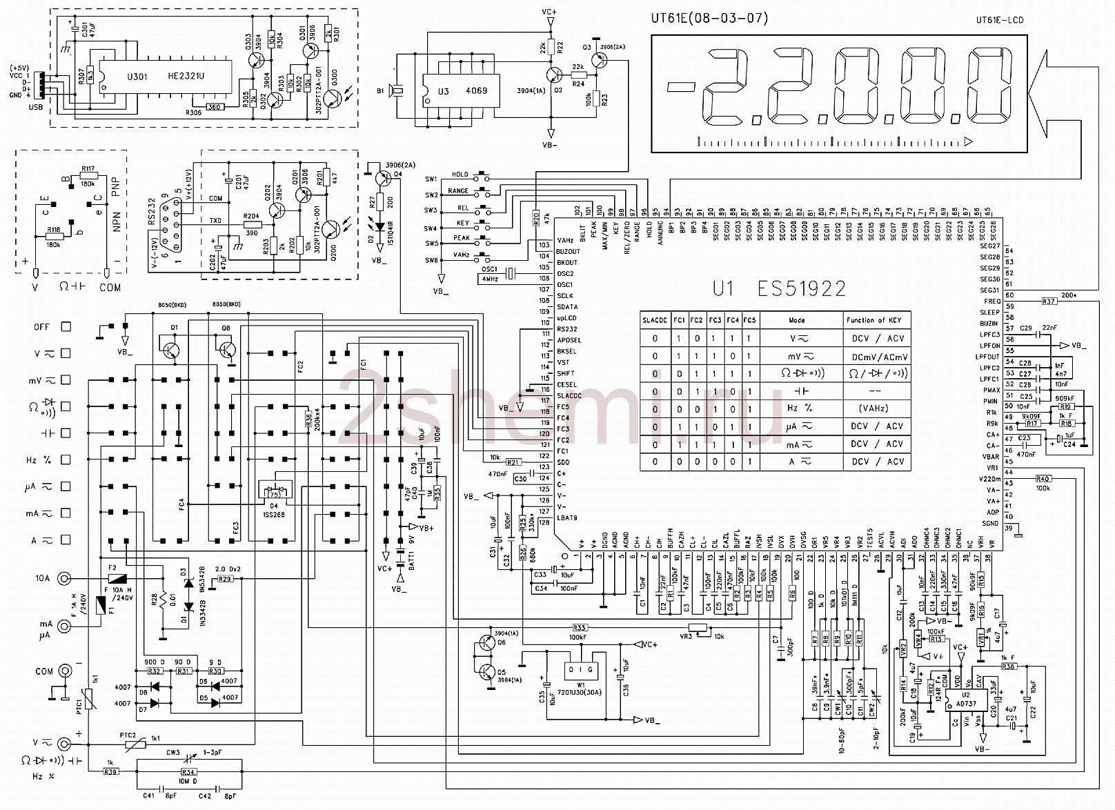 Цифровой мультиметр UNI-T UT61A - UT61E: отзывы, обзор, инструкция