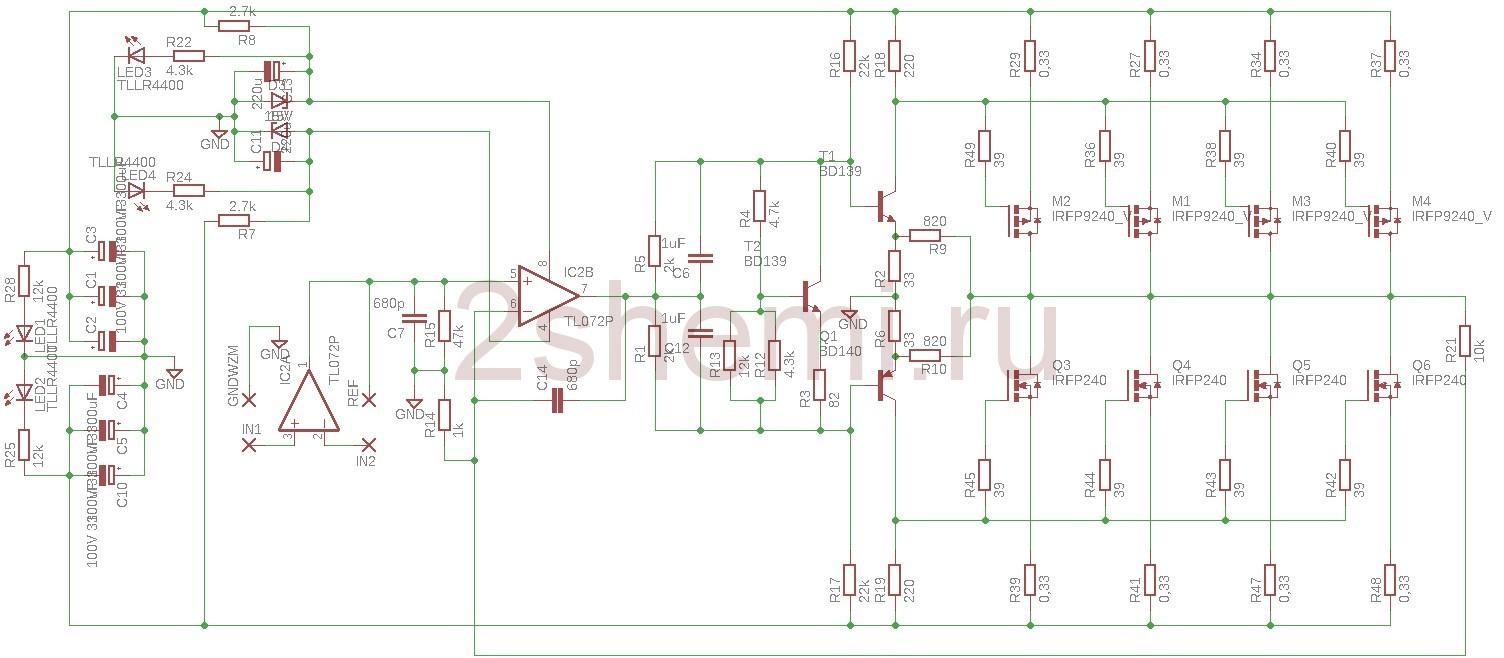 Активный сабвуфер для дома - схема и описание сборки