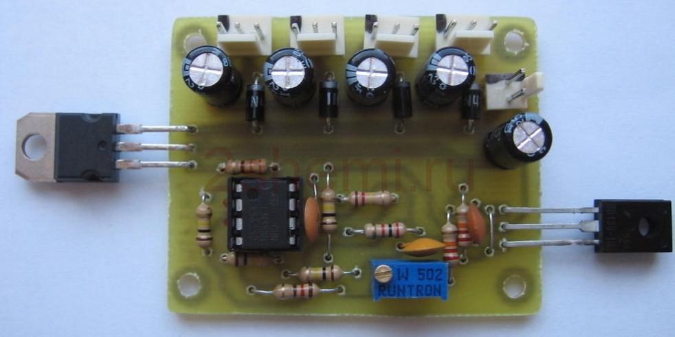 Аналоговый регулятор оборотов вентилятора с термоконтролем