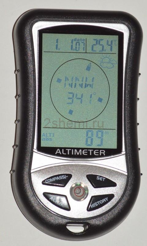 Барометр-альтиметр с компасом и термометром