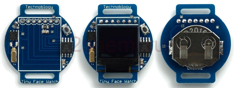 Наручные часы со стрелками на дисплее - схема