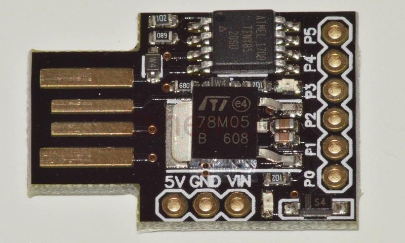 Digispark ATTINY85: схема подключения модуля, прошивка и испытание