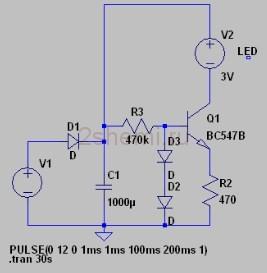 Светодиодный фонарик с динамо подзарядкой от моторчика