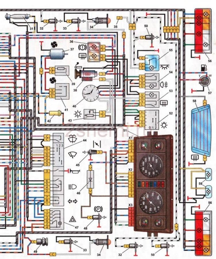 Схема ВАЗ-2107