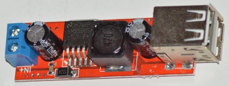 Понижающий преобразователь с выходом на USB-порт