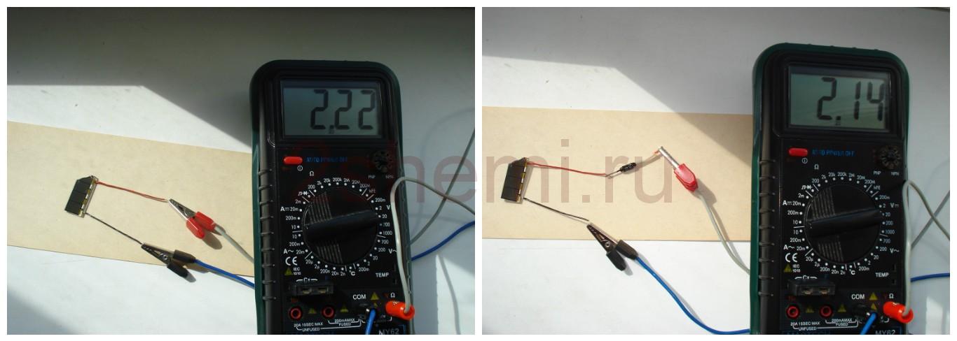 Установка на калькулятор солнечной панели