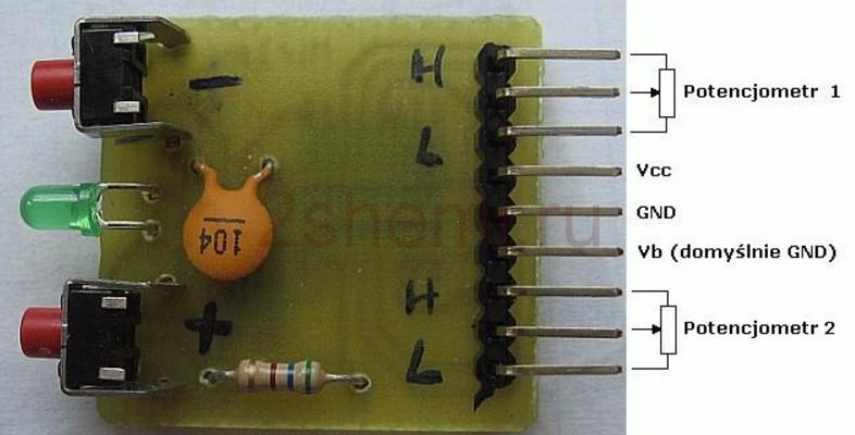 Цифровой кнопочный потенциометр - регулятор громкости