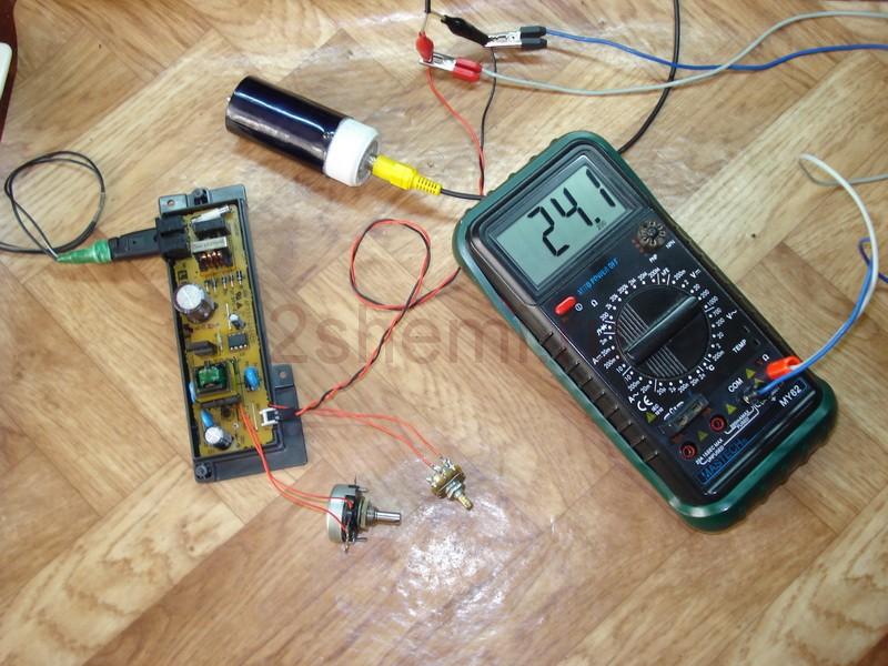 Управление вентилятором термовоздушного паяльного фена