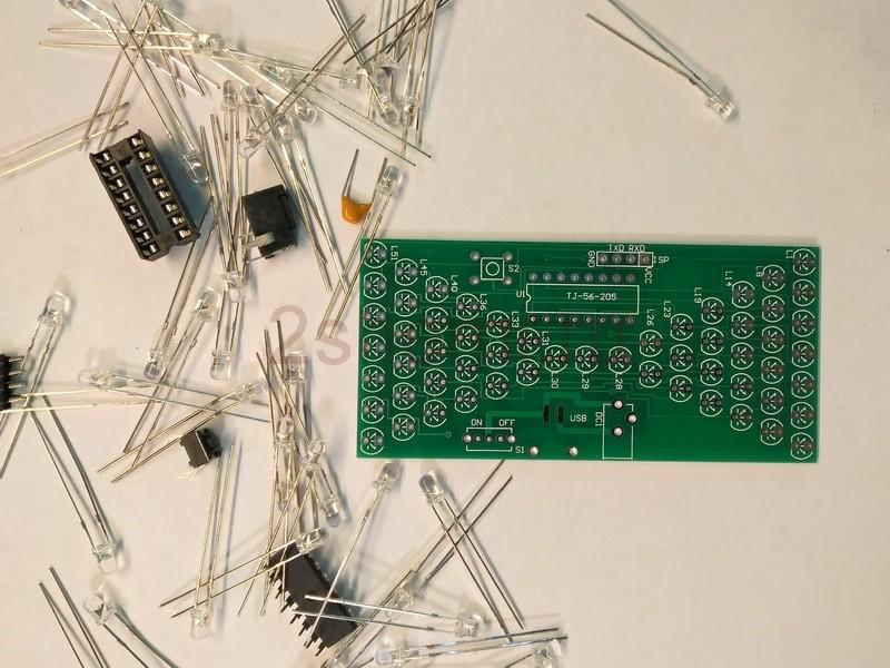 Светодиодные песочные часы на микроконтроллере - модуль из Китая