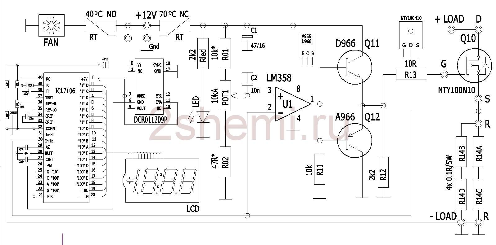 Электронная нагрузка на полевых транзисторах 500 - 1000 Вт