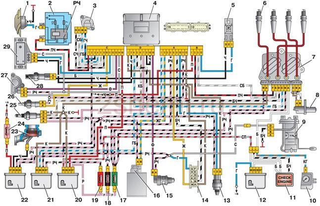 Распиновка и схема бензонасоса с реле ВАЗ