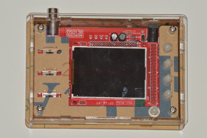 Портативный цифровой осциллограф из Китая - инструкция, обзор, тест, сборка корпуса