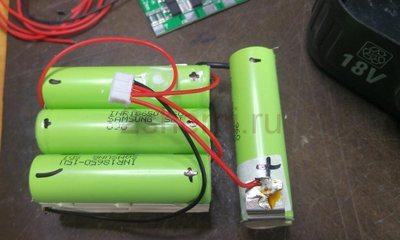Переделка аккумуляторной отвертки из Ni-Cd в Li-Ion