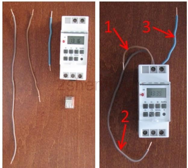 Как подключить программируемый электронный таймер к сети