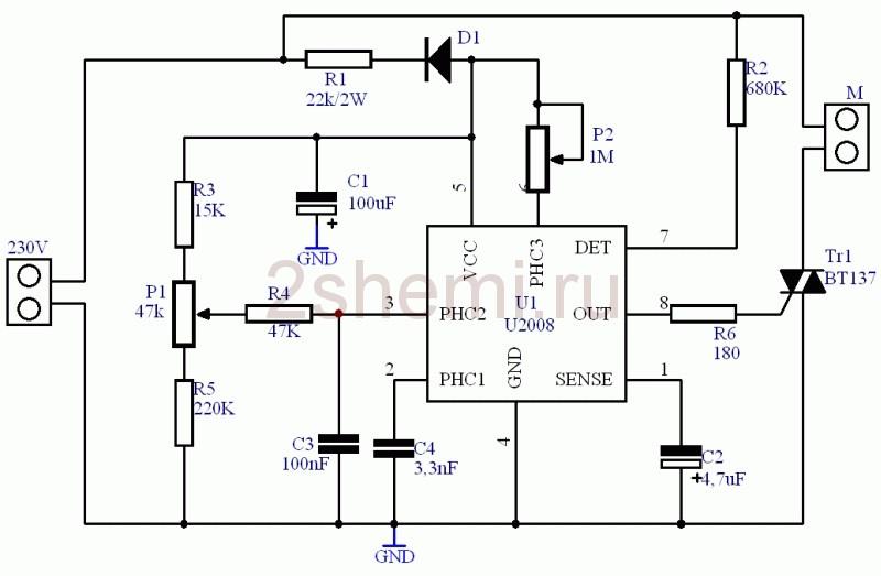 Регулятор оборотов однофазных электродвигателей 220В