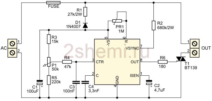 Регулятор оборотов электродвигателя 220В