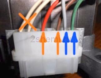 Схема подключения мотора от стиральной машины