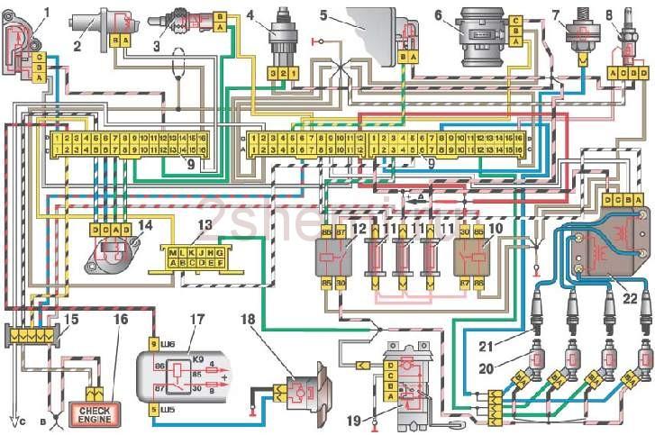 Электро схема машины 2109 фото 971