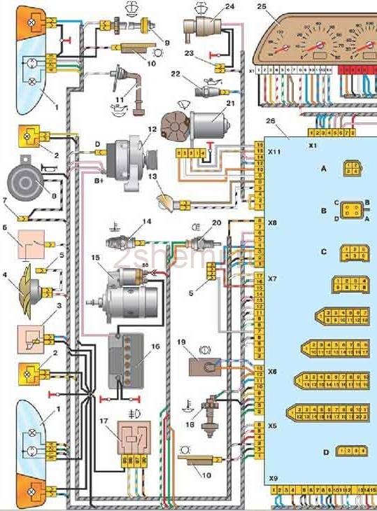 Ваз 2114 инжектор электрическая схема омывателя фото 27