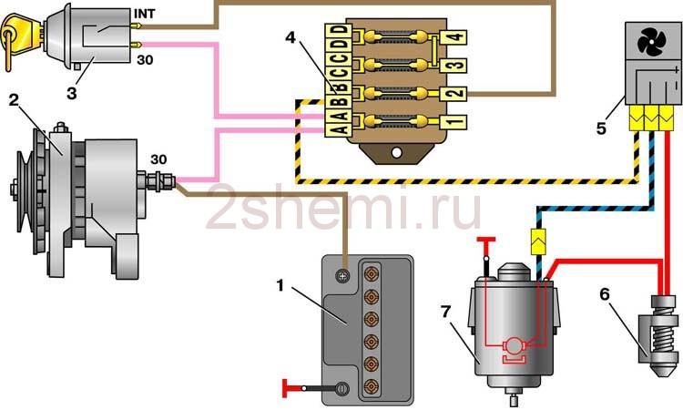 Схема ВАЗ-2101