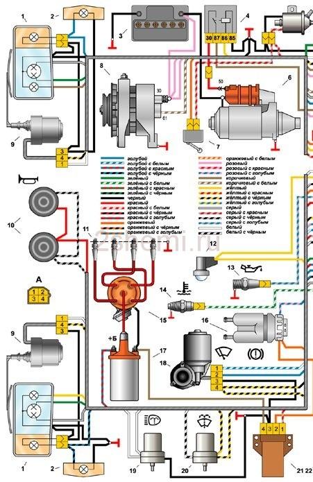 Схема ВАЗ-2105
