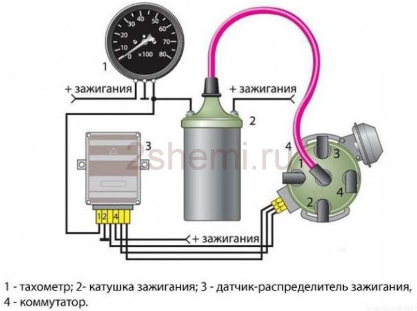 Схема подключения тахометра ВАЗ