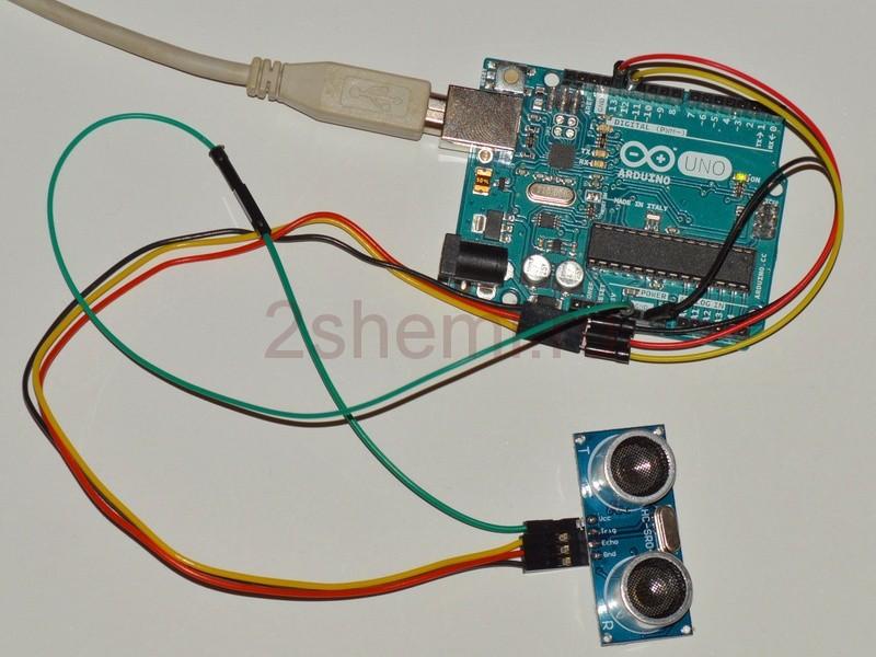 Измерение температуры воздуха с помощью ультразвукового датчика
