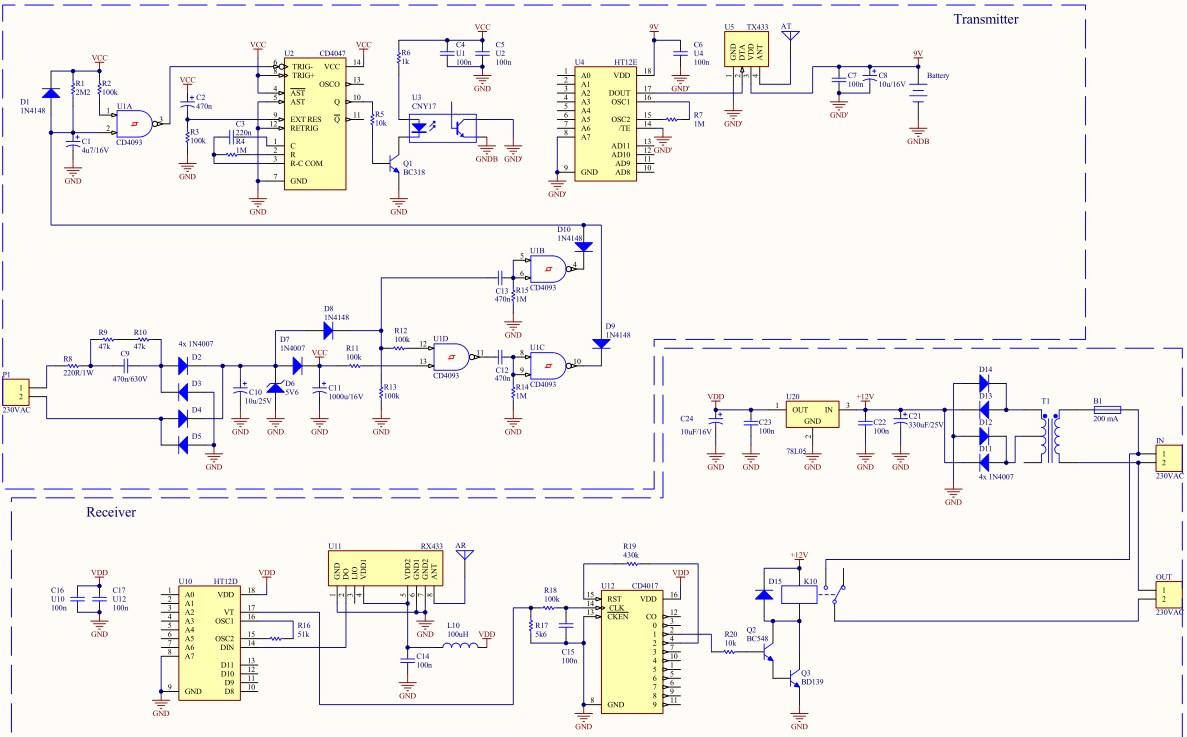 Автоматическое дистанционное управление освещением по радиоканалу