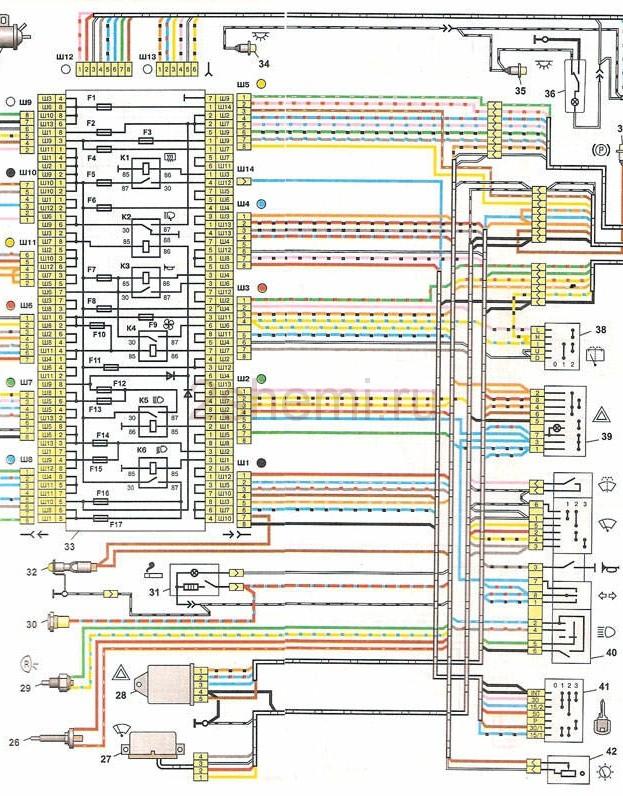 Схема ВАЗ-2104