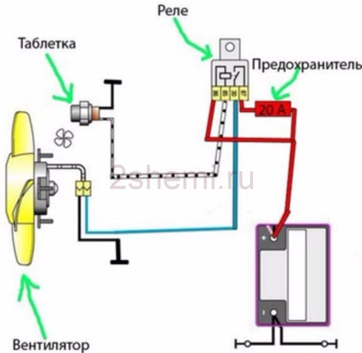Схема вентилятора охлаждения ваз 2110 инжектор фото 549