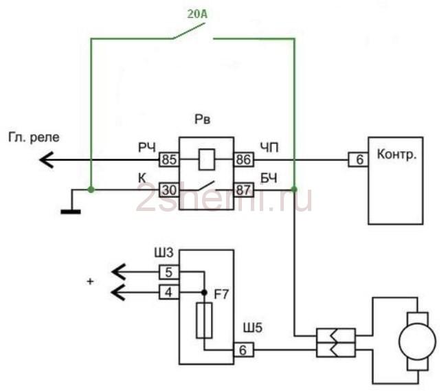 Схема подключения вентилятора охлаждения ВАЗ