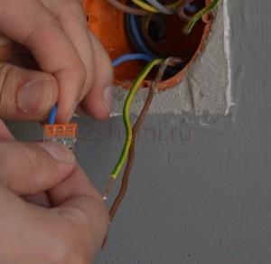 Схема подключения выключателя света с одной клавишей