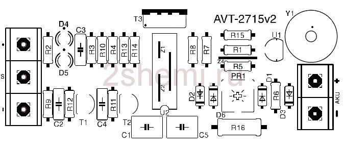 Схема зарядного устройства для автомобильного аккумулятора (самодельная)