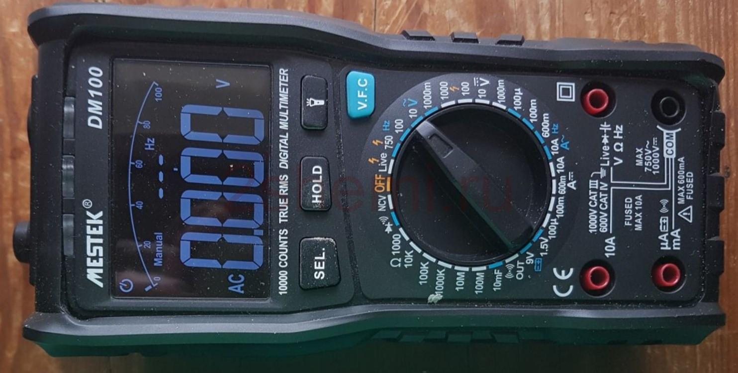 MESTEK DM100: обзор и разборка схемы цифрового мультиметра