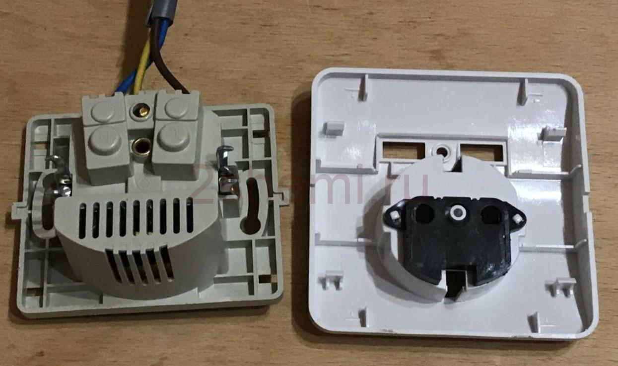 Розетка 220 В со встроенным USB зарядным устройством