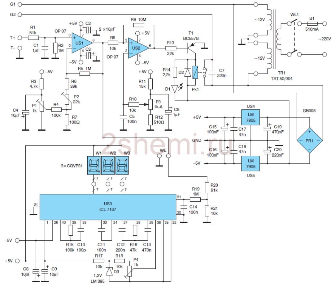 Схема простой паяльной станции