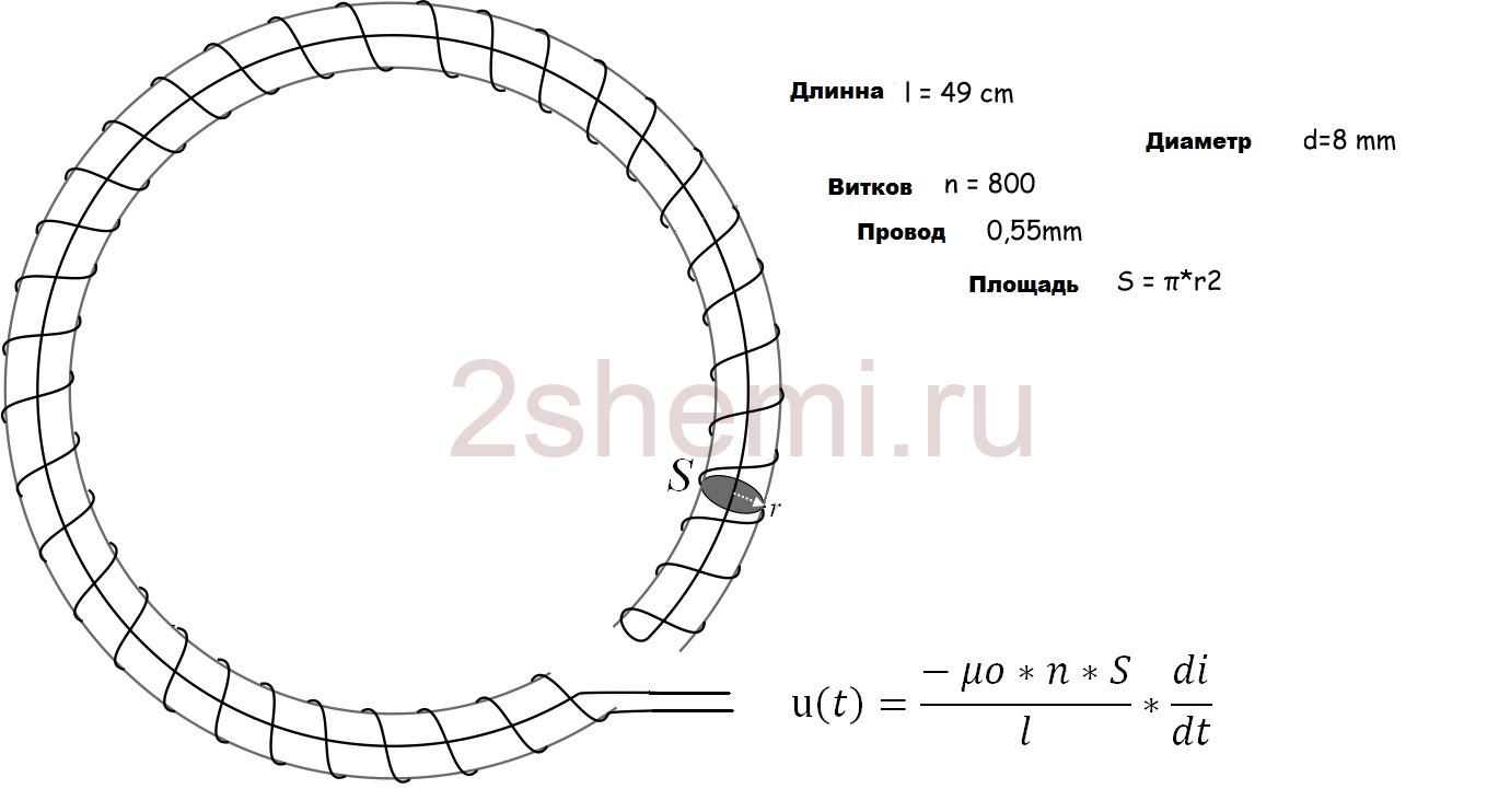 Самодельная катушка Роговского на ток до 10000 Ампер
