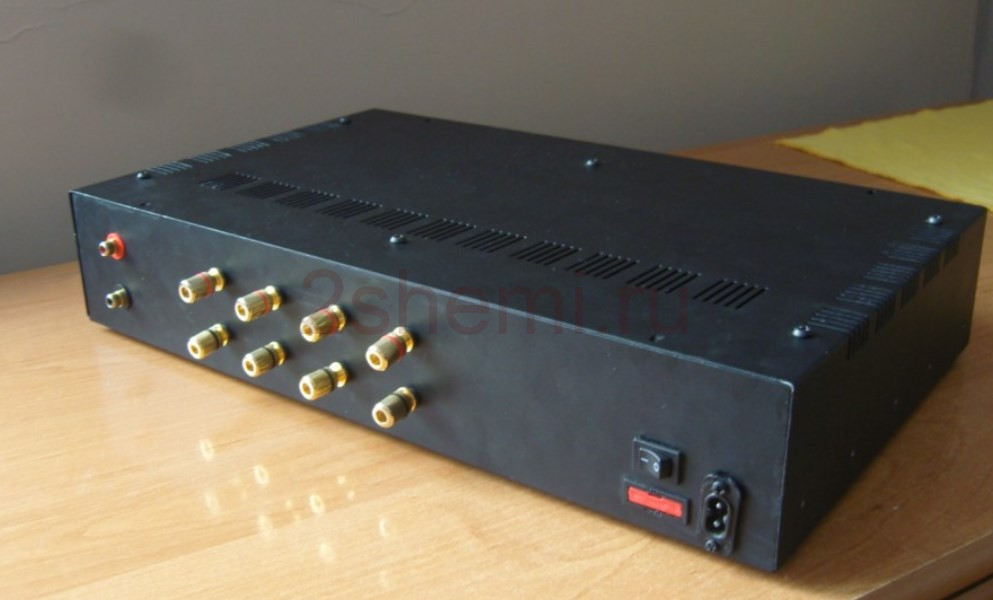 УНЧ на LM3876: схема квадро-усилителя