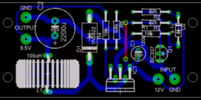 Автомобильный адаптер питания на 9 Вольт