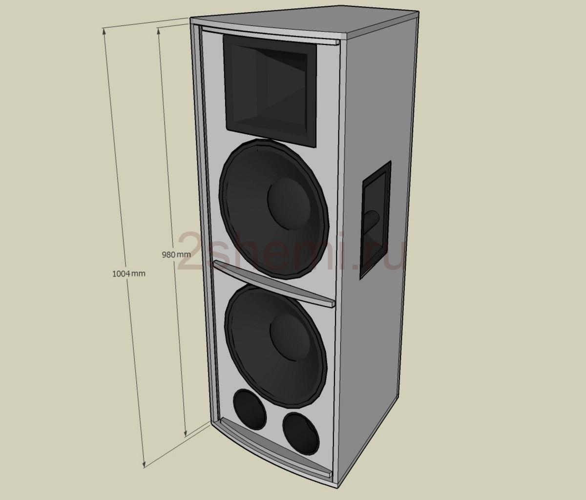Большие самодельные акустические колонки на 1000 Вт