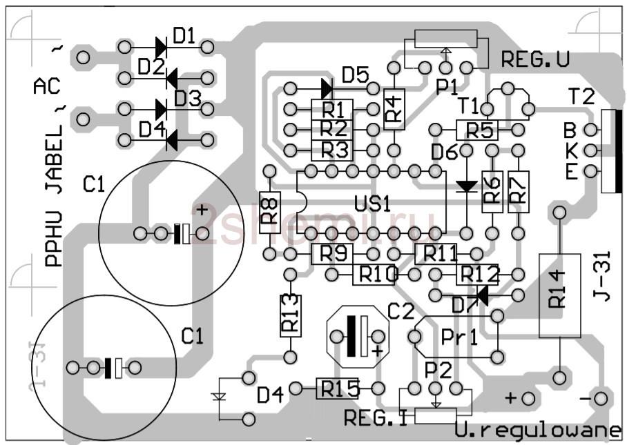 Универсальный блок питания 0-15 В 1 А с защитой и регулировками